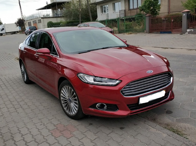 Ford Fusion 2016 Titanium Ruby red